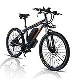 26/29' Bicicleta Eléctrica E-Bike, Bicis de Montaña Electricas para Adulto de 48V con Batería Extraíble de 13Ah/18Ah, Bicicleta de Ciudad para Hombres y Mujeres (Gris, 26zoll 18A)