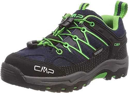 CMP – F.lli Campagnolo Unisex-Kinder Kids Rigel Low Shoe Wp Trekking- & Wanderhalbschuhe, Blau (B.Blue-Gecko 51ak), 35 EU