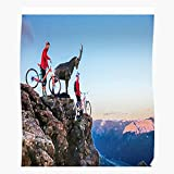 Downhill Bike Slopestyle Enduro Style Slope Macaskill Trials Danny Mountain Wall Art Print Poster Home Decor Premium