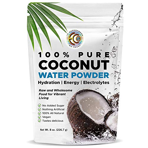 Earth Circle Organics | Pure Young Dried Coconut Water Powder | Hydration | Energy and Electrolyte Supplement | No Additives | Unsweetened | Natural Keto Water Enhancer | Vegan | Gluten Free (3 Pack)