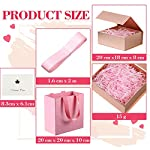 8 x 7 x 3 Inch Present Box with Lid, Fold Box with Magnetic Closure Paper Bridesmaids Proposal Box with Present Bag Card…