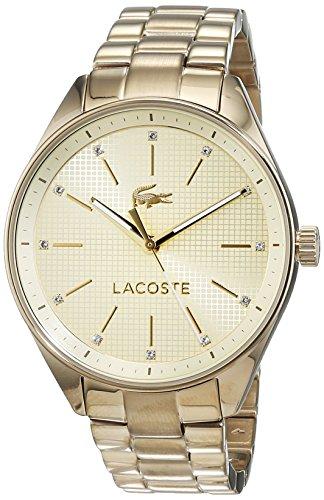 Lacoste Damen Datum klassisch Quarz Armbanduhr mit Edelstahlarmband