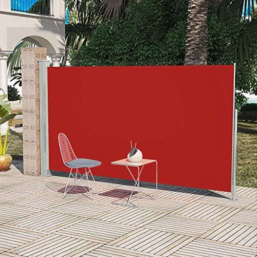 FAMIROSA Terrassenmarkise Seitenmarkise 160 x 300 cm Rot