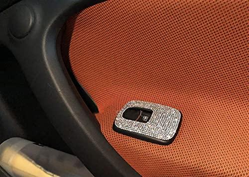 CoyiL - Adhesivos decorativos para interiores para Mercedes Smart 453 Forfour Fortwo con diamantes de imitación de diamantes de imitación (panel de control de ventana)