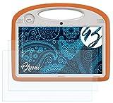 Bruni Schutzfolie kompatibel mit Archos 101 ChildPad Folie, glasklare Bildschirmschutzfolie (2X)