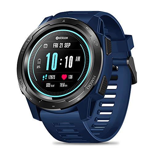 Zeblaze Vibe 5 Pro Smartwatch, Reloj Inteligente Hombre IP67 Reloj Deportivo Resistente al Agua Monitor de Ritmo cardíaco Monitor de Ritmo cardíaco Podómetro para Hombres y Mujeres para iOS y Android (Azul)