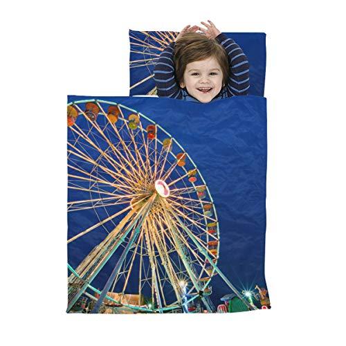 Nickerchen Matten Jungen in der Nacht Schöne Riesenrad Kinder Schlafsäcke Weiche Mikrofaser Leichte Kinder Nickerchen Matte Perfekt für Vorschule, Kindertagesstätte und Übernachtungen