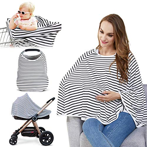Cute Critters Baby Nursing Cover & Nursing Poncho - Multi Use Cover for Baby, Stroller Cover, 360° Full Privacy Breastfeeding Protection,Baby Shower Gifts for Boy&Gir
