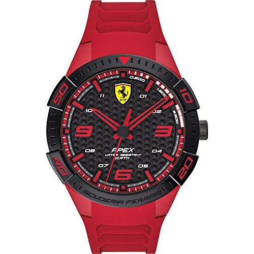 Scuderia Ferrari Orologio Analogico Quarzo Uomo con Cinturino in Silicone 0830664