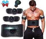 Electroestimulador Muscular Abdominales Aparatos para Hacer Ejercicio casa,Abdominales electroestimulacion,EMS Estimulador,Pantalla LCD,Gym en casa,Tóner Muscular Cinturones