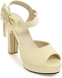 BalaMasa Womens ASL06617 Pu Heeled Sandals
