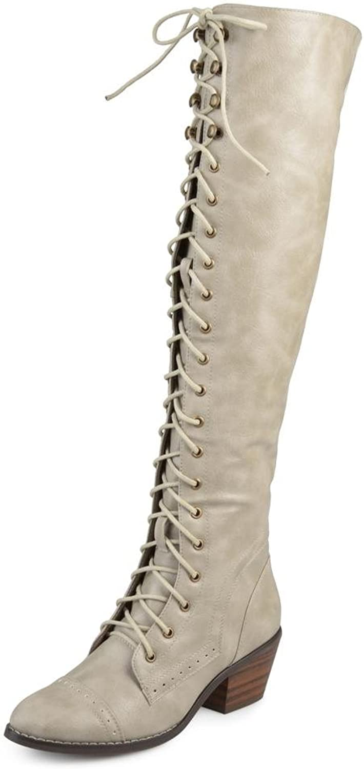 Journee Collection Womens We Bazel Closed Toe Knee High Fashion Boots