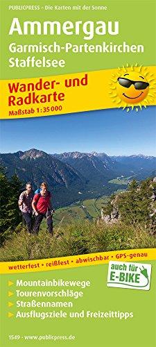 Ammergau, Garmisch-Partenkirchen, Staffelsee: Wander- und Radkarte mit Ausflugszielen & Freizeittipps, wetterfest, reißfest, abwischbar, GPS-genau. 1:35000 (Wander- und Radkarte / WuRK)