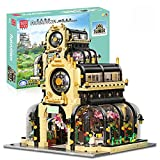 Kit di blocchi per la costruzione della casa, 2147 pezzi Kit di blocchi per l'architettura del giardino botanico con illuminazione a LED, compatibile con la casa di città Lego A,25 * 25 * 21cm