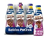 Puleva Batido Láctea sin Lactosa con Chocolate - Paquete de 6 Batidos x 1 L - Total 6 L