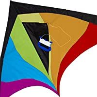 Best Delta Kite, Easy Fly for Kids and Beginners, Single Line w/Tail Ribbons, Stunning Colors, Large, Meticulously…