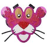 iron on patch,parches para ropa,Aplique de bordado, utilizado para decorar ropa para reparar agujeros en la ropa, pantera rosa brillante 1 pieza