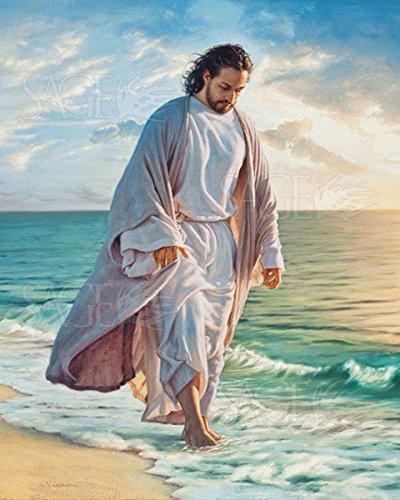 Picture Peddler Be Still My Soul by Mark Missman Jesus Beach Christian Religion Print Poster 8x10