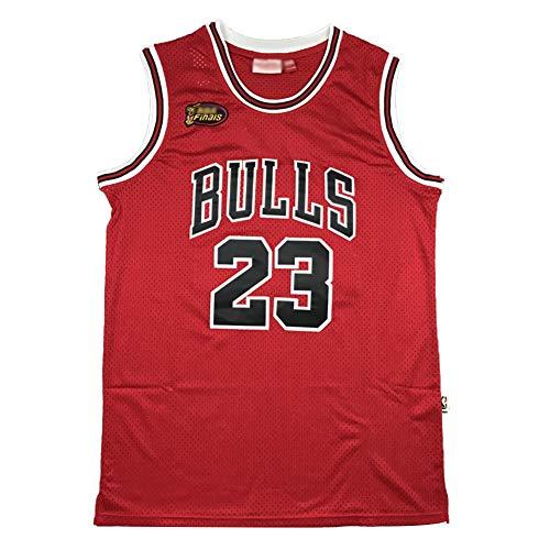 # 23 Bulls Michael Jordan 98 Finals Logo Basketball Trikot, Herren Bulls Classic Retro Basketball Uniform, atmungsaktiv und bequem Sweatshirt (S-2XL) L farbe