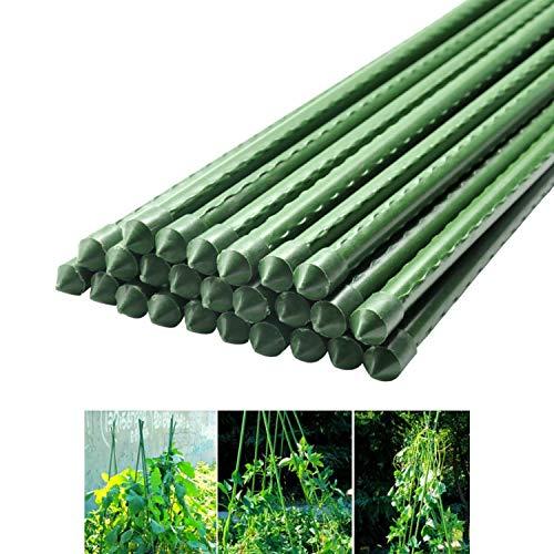 MINGMIN-DZ Dauerhaft Mit Metallplastik überzogener Pflanzkäfig unterstützt das Klettern for Tomaten, Bäume, Gurken, Zäune, Bohnen, 50 Stck
