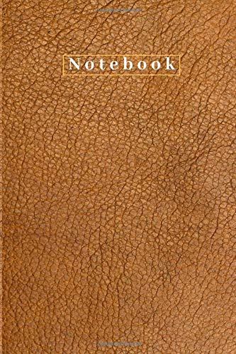 Notebook: Classy Brown Leather-like Matte Cover I Notebook I 100 lined pages I (6x9)