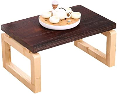 C-J-Xin Solid Wood Table, Single Layer Multifunction Coffee Table Classroom Book Room Child Study Table Easy to Move Living Room Furniture