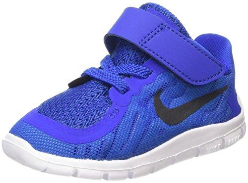 Nike Unisex – Kinder Free 5 (TDV), blau/schwarz, 22 EU