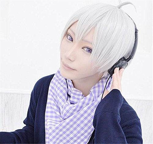 LanTing Cosplay Perücke IDOLiSH7 Silver White Perücke Corta Styled Frauen Cosplay Party Fashion Anime Human Costume Full wigs Synthetic Haar Heat Resistant Fiber