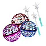 FlyNova Pro Flying Ball Toys, Mini Drone Helicopter Boomerang, Flying Spinner Ball Toys with 360° Rotating Spinning LED Lights for Kids Adults Indoor Outdoor