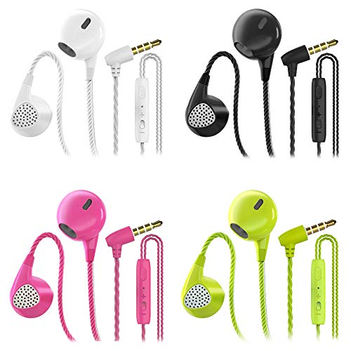CBGGQ 4 Pares Auriculares In Ear con Micrófono, 3,5 mm con Cable para...