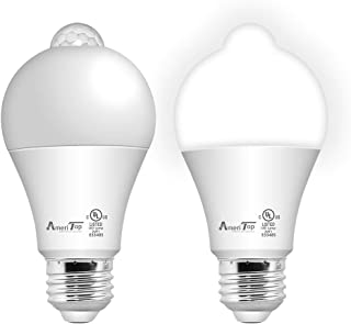 Motion Sensor Light Bulb- 2 Pack, AmeriTop 10W(60W Equivalent) 806lm Motion Activated Dusk to Dawn Security LED Bulb; UL L...
