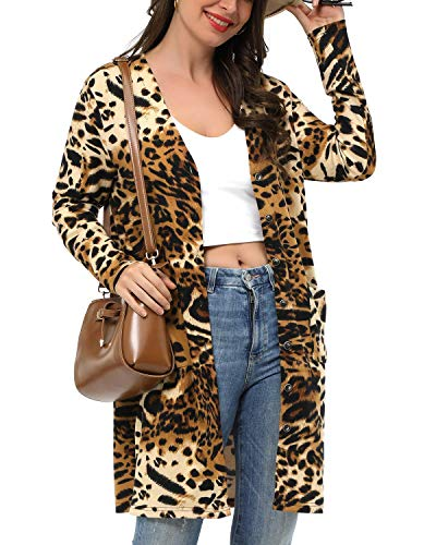 (55% OFF) Women's Long Sleeve Leopard Cardigan $10.34 – Coupon Code