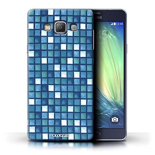 STUFF4 telefoonhoesje/hoes voor Samsung Galaxy A7/A700 / blauw/wit ontwerp/bad tegel patroon collectie/door Penny Lane Publishing, Inc.