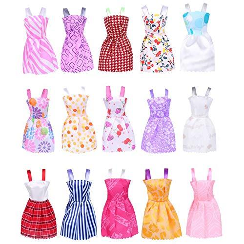 Vestidos de muñeca exquisitos vestidos de fiesta de moda vestidos de traje de disfraces juguetes para niños regalo de Navidad cumpleaños