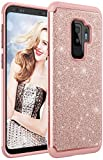 Samsung Galaxy S9 Plus Case, Style4U Phone Cover Shockproof S9+ Stylish Case Sparkle No-Mess Glittler Armor Bling Protective Phone Cover for Samsung S9 Plus (Rose Gold)