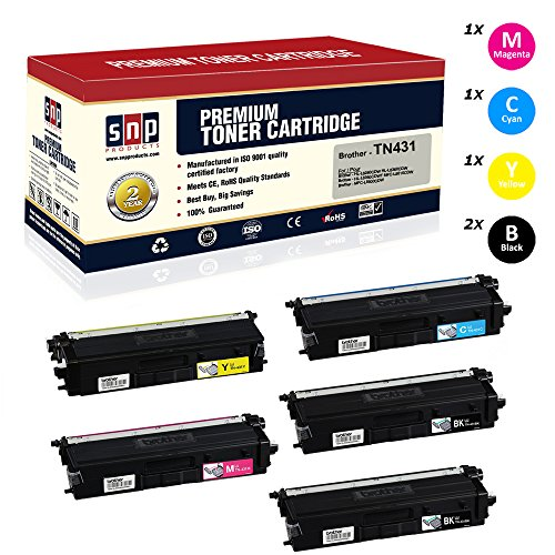 SNP Compatible Toner Brother TN431, TN433, TN436 Set of 2Black, 1Cyan, 1Magenta, 1Yellow Compatible-Brother HL-L8260CDW HL-L8360CDW HL-L8360CDWT MFC-L8610CDW MFC-L8900CDW HL-L9310CDW MFC-L9570CDW