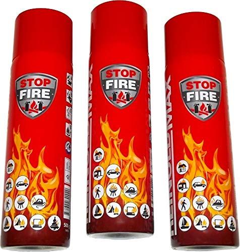 3er Set Lönartz® 500 Feuerlöschspray (Feuerlöscher) (auch für Fettbrände, 3x500g netto) Reinold Max