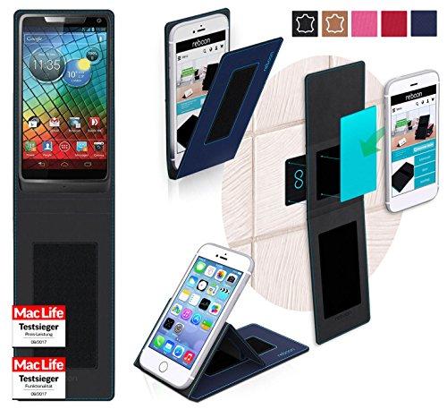 reboon Hülle für Motorola RAZR i Tasche Cover Case Bumper | Blau | Testsieger