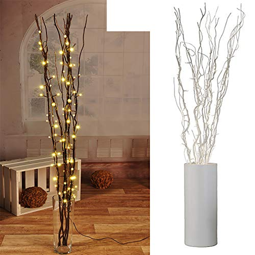 Lichterzweige mit 80 LEDs silber Beleuchtung Lichterkette Leuchtzweig Dekoration Lichter Zweig