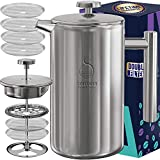 French Press Coffee Maker Stainless Steel (1000ml)
