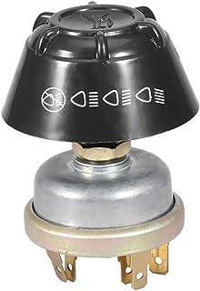 EBTOOLS 12V Pulsador de Interruptor de Bocina de Luz a Prueba de Agua para el Tractor Massey Ferguson, ABS + Aluminio