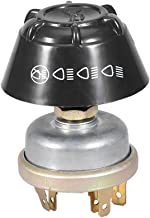 Acouto 12V Waterproof Light Horn Switch Push Button for Massey Ferguson Tractor, ABS + Aluminum