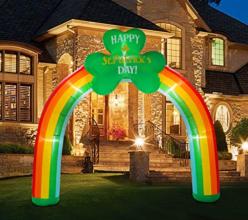 BNX 9 Ft Inflatable St. Patrick Day Arch Light up for Yard and Garden