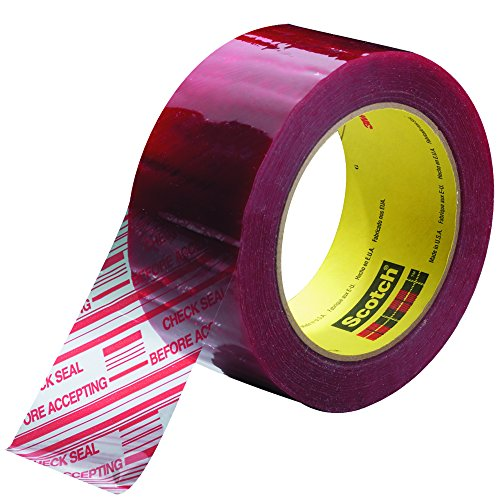 """3M 3779 Pre-Printed Carton Sealing Tape, 1.9 Mil, 2"""" x 110 yds, Clear/Red, 36/Case, 3M Stock# 7000123942"""