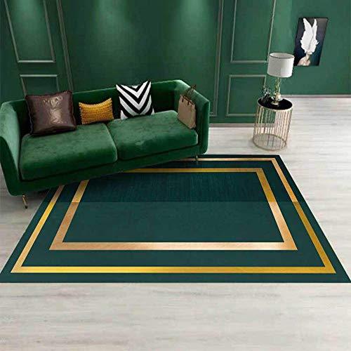 Topinged Tapis Fashions Area Rug, pour Salon Chambre canapé Cuisine Enfants Chambre Table Basse Couloir décor Vert émeraude-80 * 120 CM