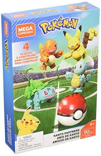 Mega Construx Pokemon Poké Ball et figurines Amis de Kanto à construire, jeu de briques de construction, 90 pièces, pour enfant dès 6 ans, GCN21
