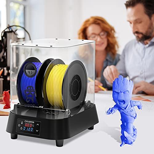 Vogvigo Caja secadora de filamento de impresora 3D, Caja Secadora de filamentos con función de control de temperatura y humedad ajustable compatible con filamento 3D de 1,75/2,85/3,00 mm