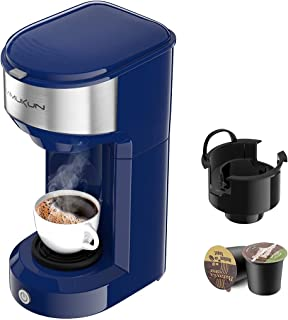 Single Serve Coffee Maker Coffee Brewer for K-Cup Single Cup Capsule and Ground Coffee, Single Cup Coffee Makers with 6 to...