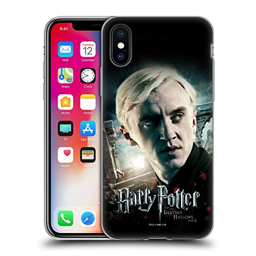 Head Case Designs Licenza Ufficiale Harry Potter Draco Malfoy Deathly Hallows VIII Cover in Morbido Gel Compatibile con Apple iPhone X/iPhone XS