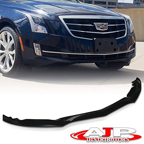 AJP Distributors Upgrade Performance Race 3pcs Front Lower Bumper Cover Lip Spoiler Splitter Body Kit Chin Skirt Diffuser Trim Gloss Black For Cadillac ATS 2015 2016 2017 2018 15 16 17 18